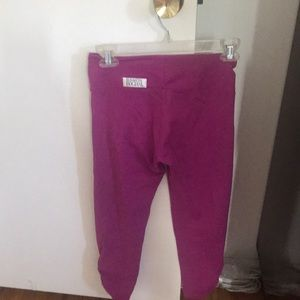 Elisabetta Rogiani Pink Cropped Workout Pants
